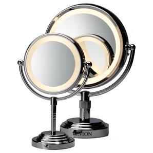 Revlon 9409 mirror double sided chrome bathroom mirror for Double mirror effect
