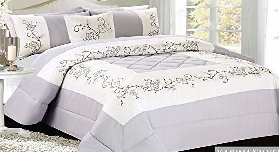 Riccardo Valeria Luxury 3pcs Embriodered Quilted Bed Spread Bedspread  550 x 301