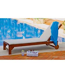 Colour dark brown. Multi position lounger. Wood treated with preservative and will need to be reappl - CLICK FOR MORE INFORMATION
