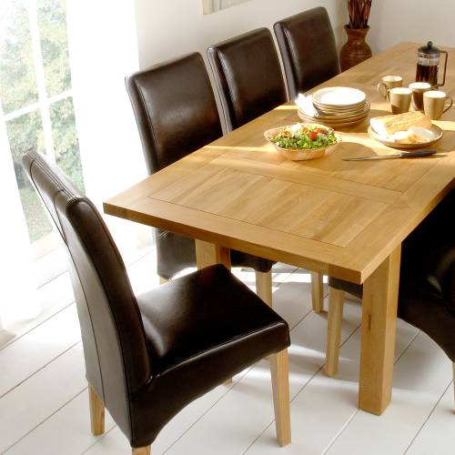 Richmond Oak Large Dining Set with 6 Chairs product image