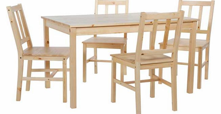 richmond solid pine dining table and 4 chairs