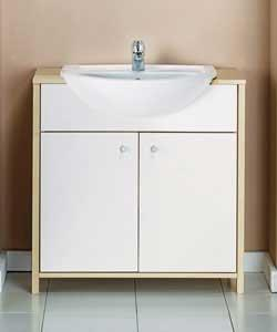 Bathroom Vanity Unit - Maple Effect Finish