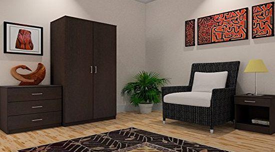 Right Deals Uk Panama 3 Piece Bedroom Furniture Sets Wardrobe Chest Bedside Beech Walnut