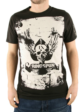 Ringspun Black Card Shark T-Shirt product image