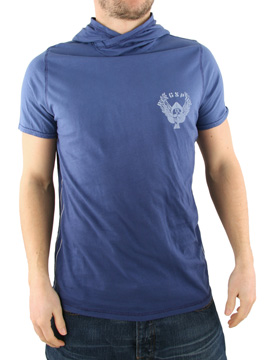 Ringspun Navy Pearl City Hooded T-Shirt product image