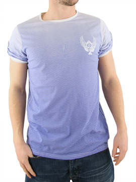 Ringspun Royal/White Leopard T-Shirt product image