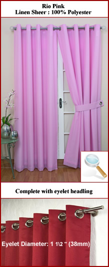 Pink Curtains at ShopStyle UK