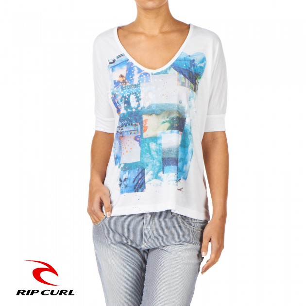 Rip Curl Womens Rip Curl Blue Artist T-Shirt - Optical product image
