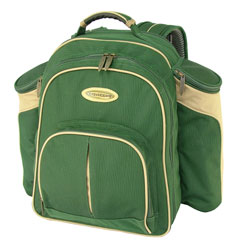 riva Green Picnic Backpack -4 Person