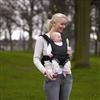 Front Baby Carrier: - Black and Grey Dot