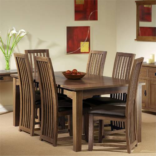 DINING TABLE AND 6 CHAIRS OAK Chair Pads amp Cushions : riverwell fine oak range riverwell oak dining set 5table 6 chairs  from chaileather.net size 500 x 500 jpeg 34kB