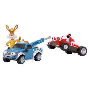 Introducing the Roary the racing car rescue & recovery set. Roary?s broken down and lost a wheel! Help Flash and Plugger rescue Roary by hooking him up to Plugger?s winch to take Roary back to Silver Hatch where Big Chris can fix him. This set includ - CLICK FOR MORE INFORMATION