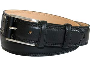 Robert Charles Bottalato (1523) Black Leather Belt by product image