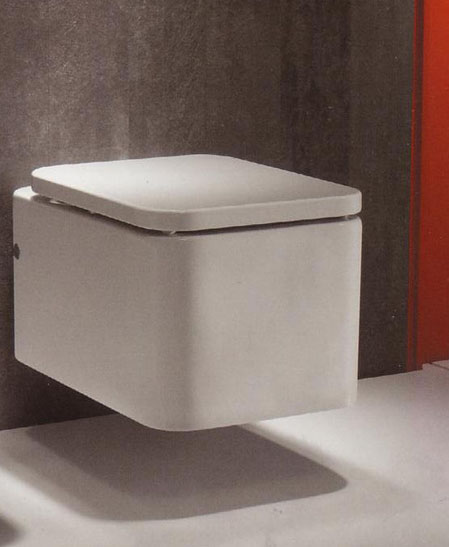 Element Wall Hung WC Pan with Seat and Cover
