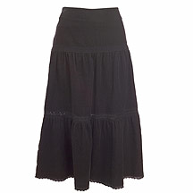 Tiered skirt with frill hemline. Lace trim on tier - CLICK FOR MORE INFORMATION