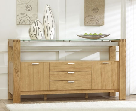 rochelle Oak and Glass Sideboard product image