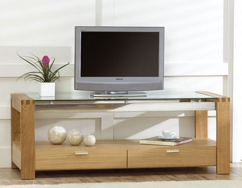 rochelle Oak and Glass TV Unit product image