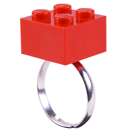 Rock N Retro Red Build Me Up Lego Ring from Rock N Retro product image