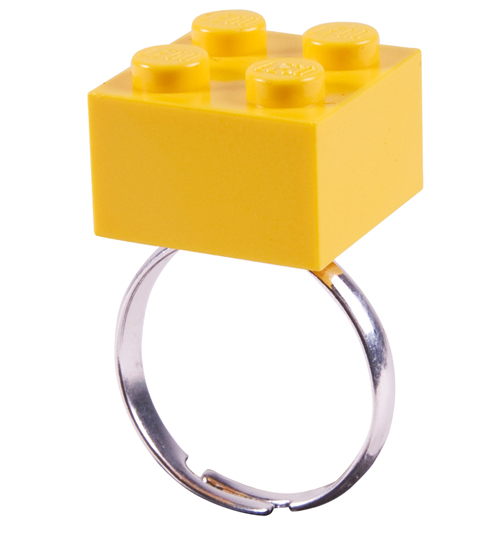 Rock N Retro Yellow Build Me Up Lego Ring from Rock N Retro