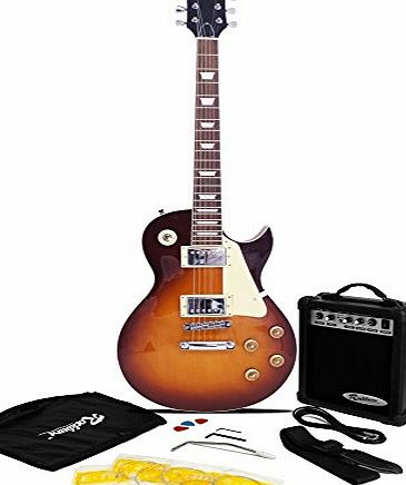 rockburn lp2 electric guitar pack sunburst review compare prices buy online. Black Bedroom Furniture Sets. Home Design Ideas