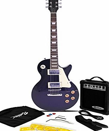 Rockburn LP2 Style Guitar Package - Blue product image