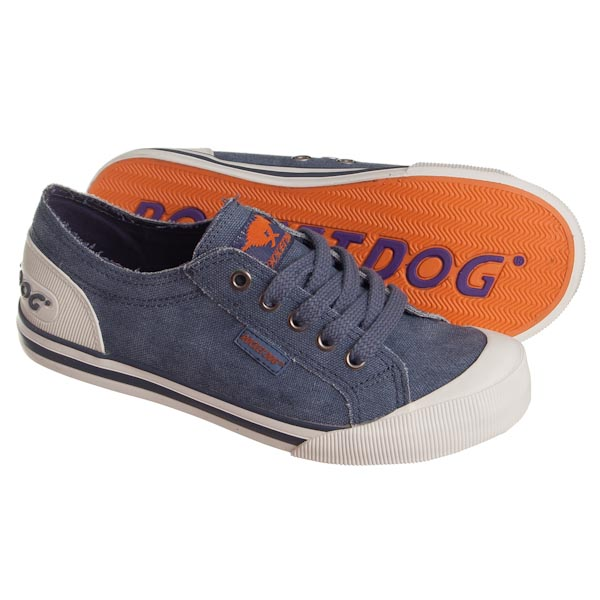 Shoes - Jazzin - Blue Washed Canvas