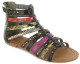Platino `Helena` Ladies Gladiator Sandal - Multi - 9 UK