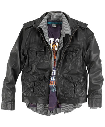 Mens Brown Leather Hipster Jacket