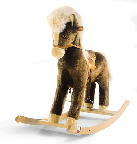Oregon Rocking Horse Beech wood rocking base washable plush Reins and ...