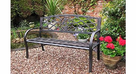 RONDEAU LEISURE METAL GARDEN BENCH