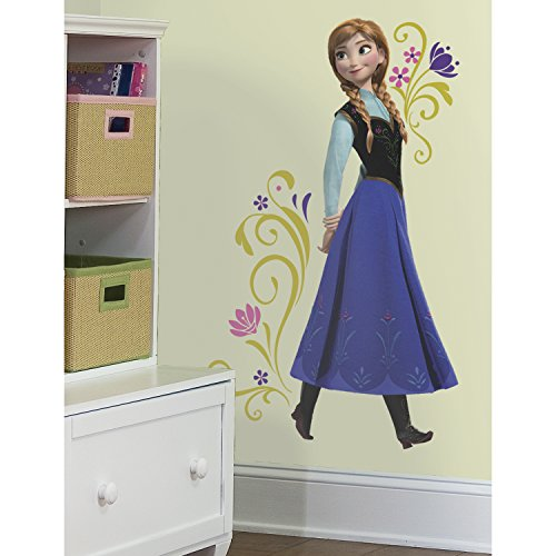 roommates frozen childrens repositionable wall stickers multi colour and tv figure