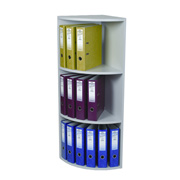 3-Tier Corner Lever Arch File Unit