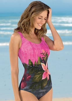 Tropical Print Swimsuit