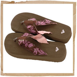 Roxy Braziliana Flip Flop  Soft Woven Strap  EVA Sole and Midsole  Brushed EVA Footbed  Roxy Emby on - CLICK FOR MORE INFORMATION