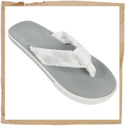Roxy Guppy Flip Flop  Fabric Strap w/ Roxy Detail  Soft Rubber Footbed w/ Roxy Detail  Rubber Sole - CLICK FOR MORE INFORMATION