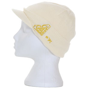 Roxy Hands Up Peak beanie - Pearl White