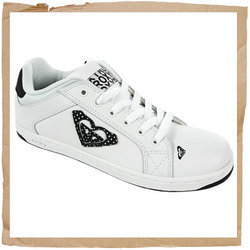 Roxy Jolly Laces Skate Shoe  Padded Tongue and Collar  Soft Tricot Cotton Lining  Leather Upper - CLICK FOR MORE INFORMATION