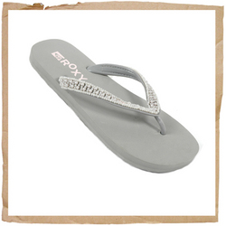Roxy Perla Flip Flop Synthetic Strap w/ Pearl Detail Foam Footbed Rubber Sole Smooth Rubber Lining - CLICK FOR MORE INFORMATION
