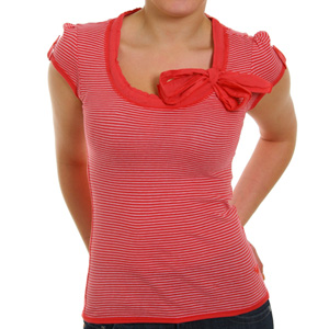 Rock Me In Tee shirt - Vermillion