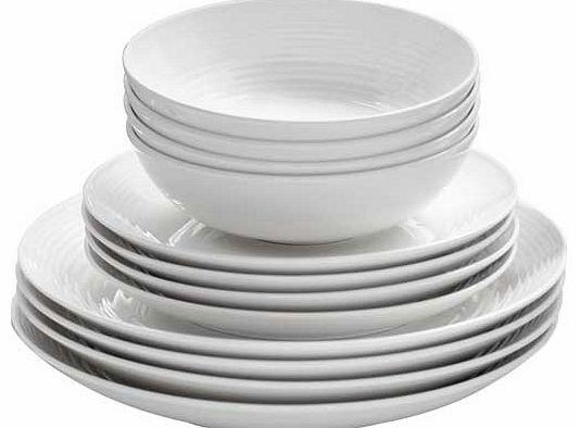 12 Piece White Dinner Set