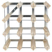 12 bottle wine rack, Natural Pine