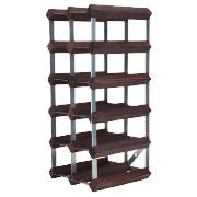 15 Bottle Wine Rack, Dark Oak