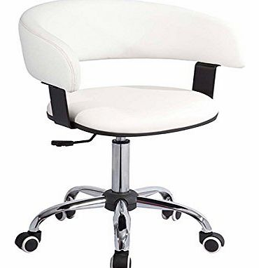 RTA Furniture Contemporary Designer White Office Chair, Brand New In Box (W75) product image