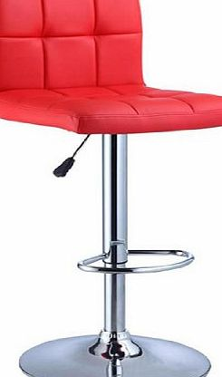 Red Faux Leather Kitchen Breakfast Bar Stool - SW31 + Free Delivery
