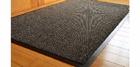 RUGS 4 HOME BIG EXTRA LARGE GREY AND BLACK BARRIER MAT RUBBER EDGED HEAVY DUTY NON SLIP KITCHEN ENTRANCE HALL RUNNER RUG MATS 120X180CM (6X4FT) product image