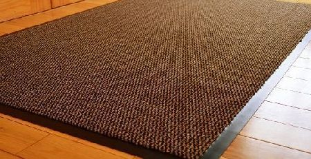RUGS 4 HOME MEDIUM EXTRA LARGE LONG NARROW BROWN / BLACK HEAVY DUTY STRONG NON SLIP HEAVY DUTY RUG BARRIER MAT DOOR OFFICE KITCHEN UTILITY CARPET (90 X 150 CMS) product image