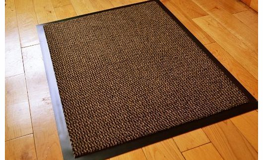 Rugs 4 Home Small Brown Black Door Mat Rubber Backed