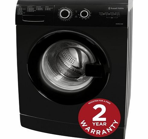 Russell Hobbs Freestanding RHWM61200B 6KG Black 1200 Spin Washing Machine product image