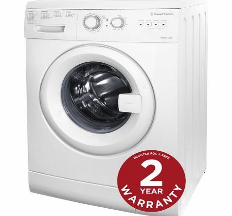 Russell Hobbs Freestanding RHWM61200W 6KG White Washing Machine - Free 2 Year Warranty* product image