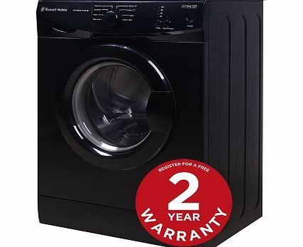 Russell Hobbs RHWM612B-M 6kg 1200 spin Black Washing Machine - Free 2 Year Warranty* product image